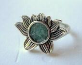 Lotus Flower Ring, Lily Ring, Flower Ring, Lotus Jewelry, Lily Jewelry, Silver Lotus Ring, Adjustable Lotus Ring