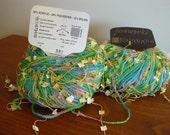 Yarn, Knitting Crochet Supplies, 2 Skeins Karabella Fireworks Yarn, Novelty Butterfly Yarn, Knitting Crochet Supplies
