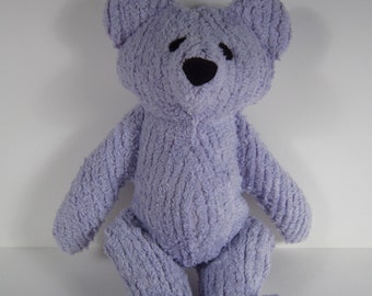 Baby's First Toy Lavender Chenille Teddy Bear