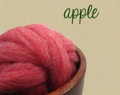 Apple Mauch Chunky Wool Roving by Kraemer Yarns 1 oz. Red Heather for felting or spinning