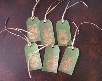Gold Ornament Small Gift Tags