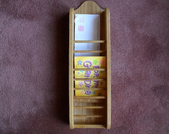 Organizer Mail File for Home or Office Oak