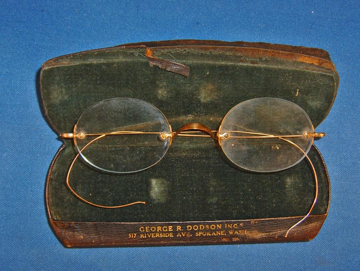 10k Gold Eyeglass Frames : Vintage 10K Gold Eyeglasses & Leather Case Jewelry Steam