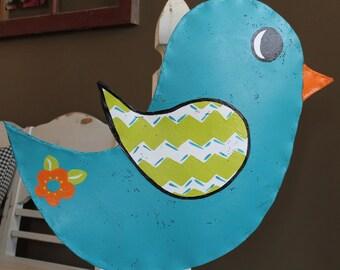 Chevron Bird Door Hanger - READY FOR PERSONALIZATION!