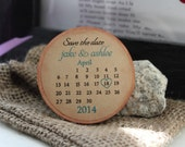 Calendar Custom magnets 100 Wedding Favor Wood Magnets-Custom Save the date  custom colors- calendar magnet-large size