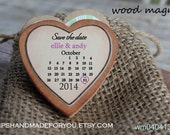 50  Wedding Favor Wood Magnets-Custom Save the date  two colors- calendar magnet-large size 2.25 inches