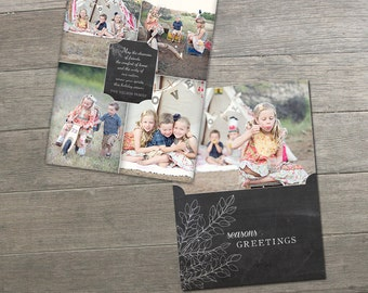 Timeless Holiday -  5x7 Custom Holiday Card Template