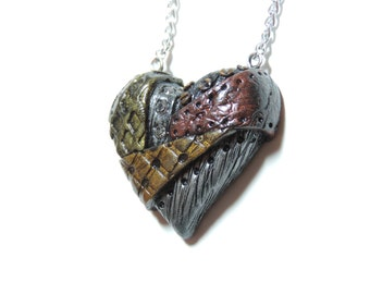 CLEARANCE half off. industrial steampunk heart necklace valentines day gift