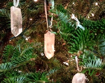 Quartz Crystal Ornaments - Set of 6