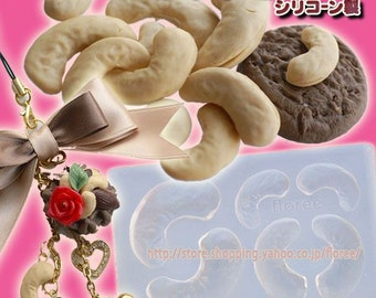 Cashew soft mold. Floree miniature nut mould/mold. Three sizes of whole cashews