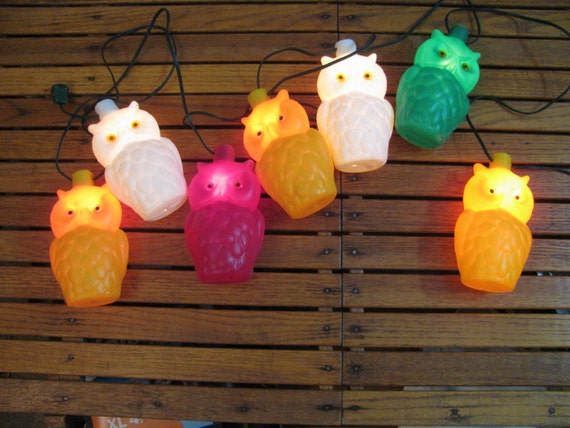 Vintage Owl String Lights Patio Camper Trailer Deck Outdoor