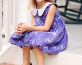 Girls Dress Pattern, Holiday Dress Pattern, Easy Dress Pattern, Bubble Dress Sewing Pattern, Girls 6m-8