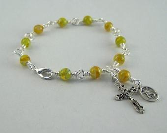 Saint Jude Rosary Bracelet