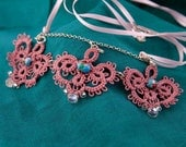 Tatted Hearts Necklace