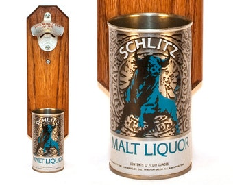 Schlitz Malt Liquor Wall Mounted Bottle Opener With Raging