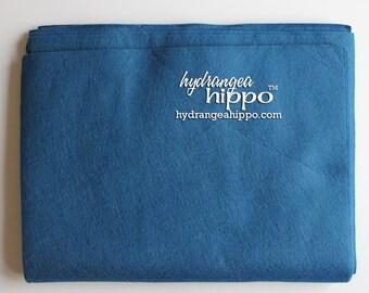 10 Sheets - Denim Heather BLUE - Wool Blend Felt - 12 x 18 inch sheets
