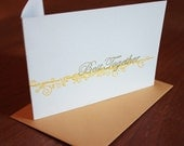 Best Together Card- Yellow and Gray ST039