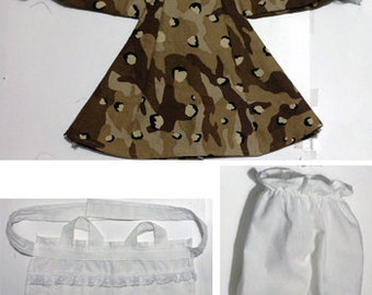 """15"""" Raggedy Ann outfit set - Camouflage"""