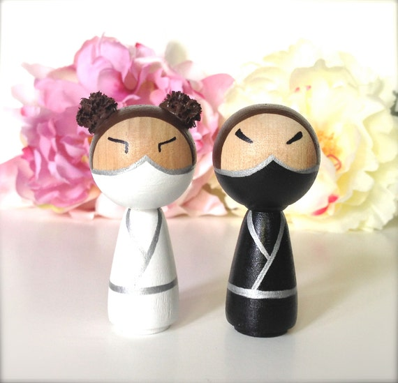 japanese wedding cake toppers items similar to wedding cake toppers 3d kokeshi 16588