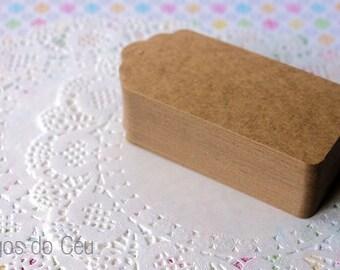 100 pcs - Kraft Tag - Gift Tag - Hang Tag - Label - 4.5 cms x 9.5 cms - Ready to Ship.