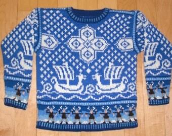 Knitting Pattern: Viking Ship Five Years
