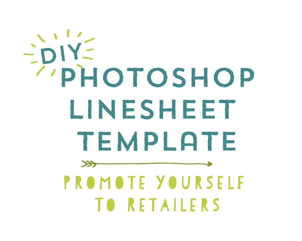 DIY Photoshop Line Sheet Template Promote Your Business to