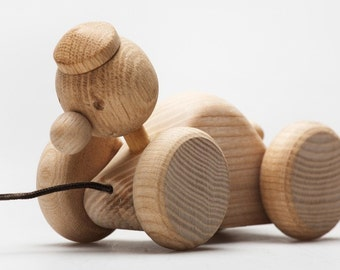 1 natural toy wooden duck