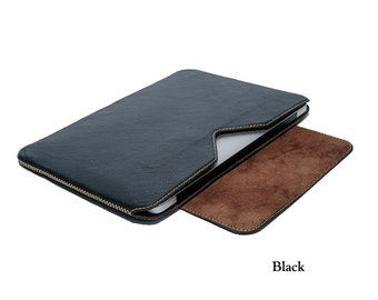 "Leather Sleeve for MacBook Air 11"" and Sony Vaio Tap 11"" (Side closing)"