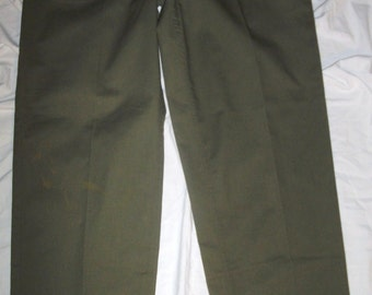 Vintage 1987 J.H. Rutter Mfg Co Od Green Polycotton Zip Fly US Military 31 X 31 Og 507 Utility Fatigue Pants (20 % DISCOUNT APPLIED)