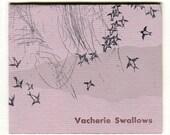"small french-fold, ""Vacherie Swallows"" bird letterpress zine"