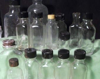 COLLECTIBLE GLASS BOTTLES