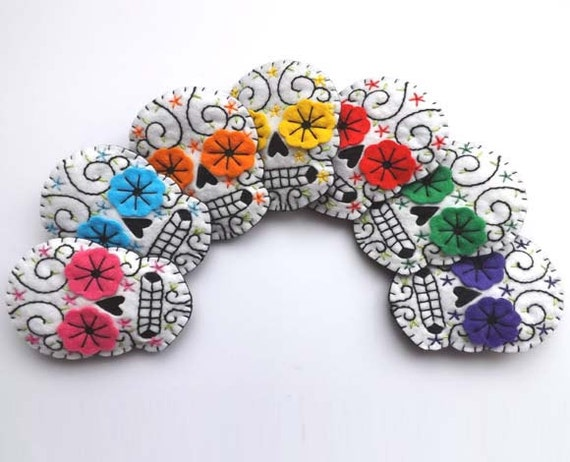 Day of the Dead Wedding Boutonnieres CUSTOM MADE