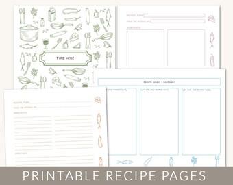 homemade cookbooks template - diy recipe binder printable and customizable recipe template