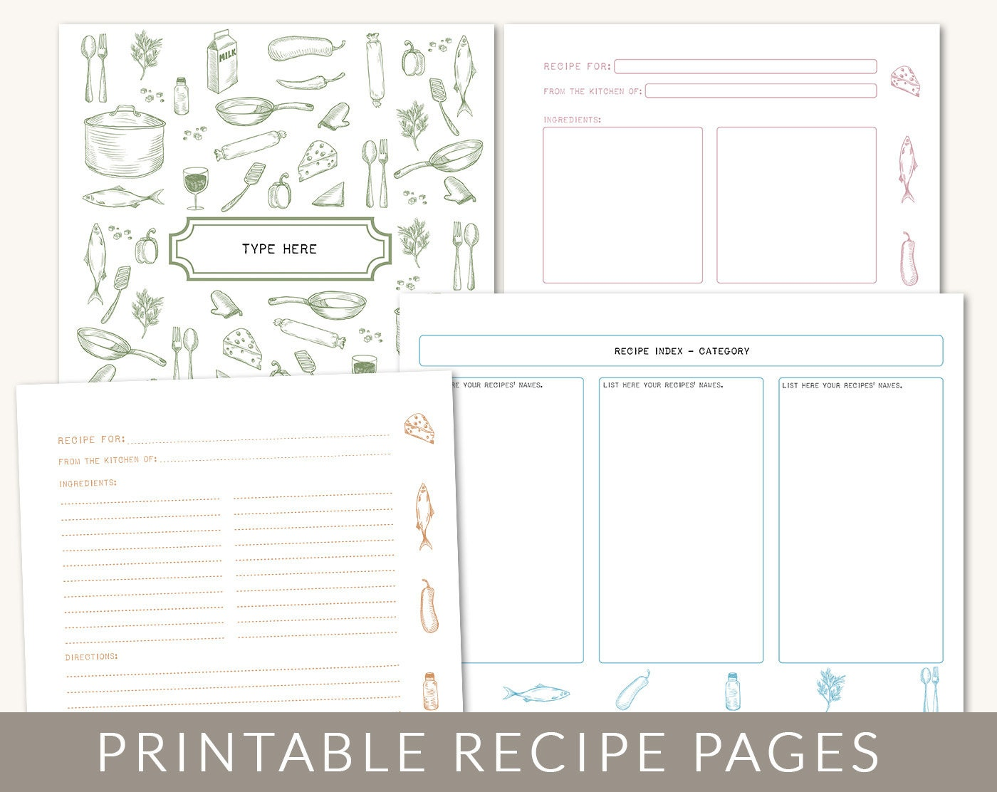 new cookbook cover templates added family recipe binder