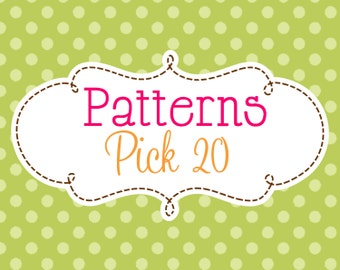 20 Crochet or Knitting Patterns Savings Pack, PDF Files, Permission to Sell Finished Items, Bundle Deal