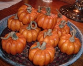 6 Faux Little Pumpkins Fixins Harvest Autumn Crafts Naturals Primitive Lodge