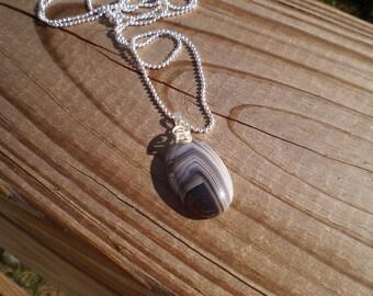 Botswana Agate Pendant Necklace
