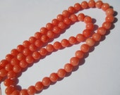 Gemstone Beads, Sunset Pink  Coral, Coral small spacers.90 pieces, approx, 5 mm, 15 inch  strand