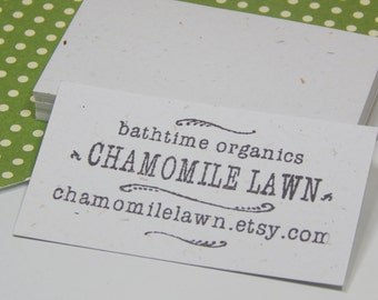 White Eco-Friendly Cardstock Business Card Blanks (50)