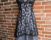 The Little Black Lace Dress over White Tule