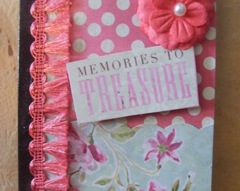 Memories to Treasure Altered Mini Composition Book