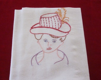 Towels - Cotton - Embroidery - Red Hat Ladies -  Large 34x36 inches - 2 included