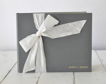 Custom Wedding Guest Book - Wedding Album - Silk Dupioni Bow by Claire Magnolia