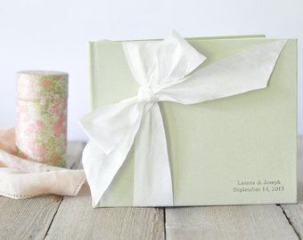 Wedding Sign In Book Guest - Photo Guest Book - Silk Dupioni Bow by Claire Magnolia