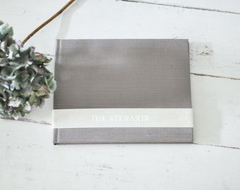 Custom Wedding Album Design, a meaningful Family Photo Book - Velvet Sash design by ClaireMagnolia