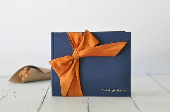 Custom Wedding Album - Photo Book - Silk Dupioni Bow by Claire Magnolia