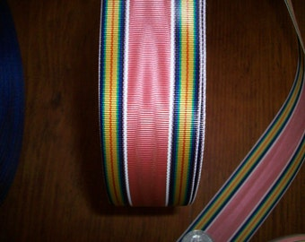 2 yds.of vintage millinery ribbon in beautiful colors stripe more avail.