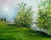 IJsselmeer Nederland origineel olieverf schilderij 30 x 40 cm
