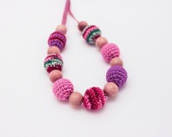 Multicoloered Nursing Necklace / Teething Necklace Made in Israel by Casa De Gato