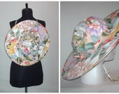Vintage 1990s Twist Sun Hat Floral Print